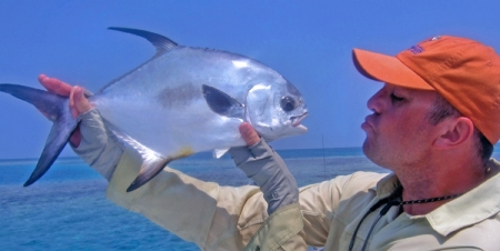 Typical Permit from Tarpon Caye Lodge