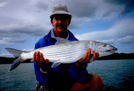 Chip Bates with a nice 12 pound Bahamas Bonefish