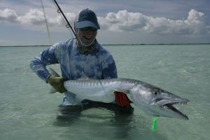 5 Foot Barracuda on the Fly